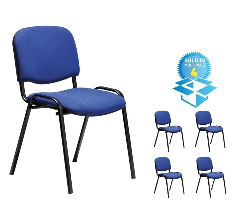 taurus 4  sc 1 st  BIMI Office Furniture Online & Pack of 4 Taurus Stacking Fabric Office Visitor/Meeting/Conference ...