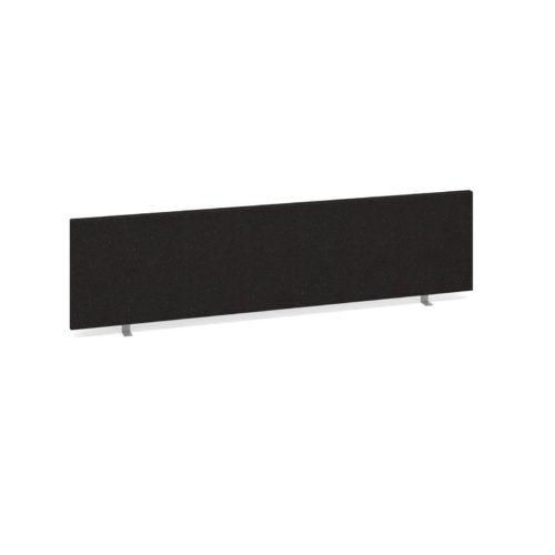 Straight Desk Top Privacy Screen 1600 x 400 Charcoal