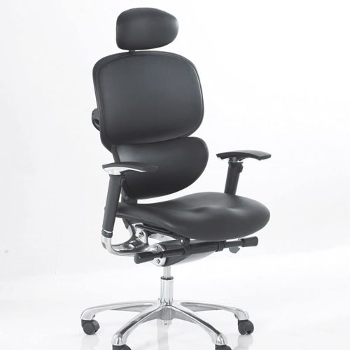 Wave Ergonomic Leather Office Chair