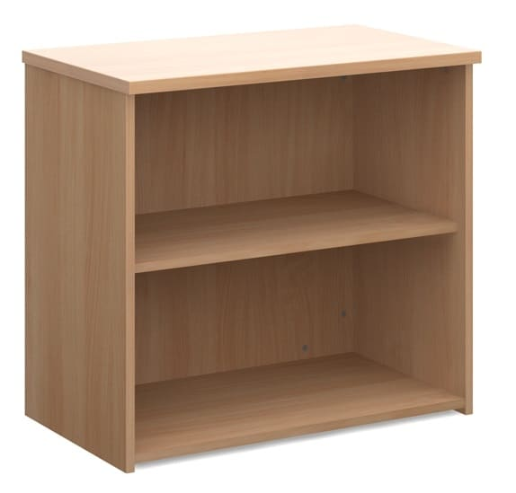 Beech Wood Office Shelving Unit 740mm 2 Shelf