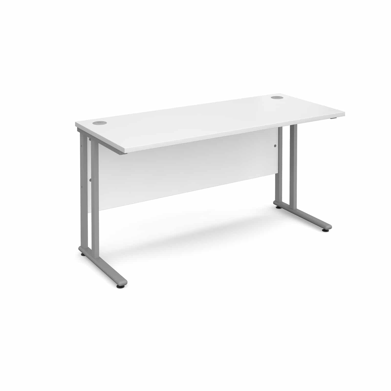Bimi Slimline 1400mm X 600mm Rectangular Straight Desk In