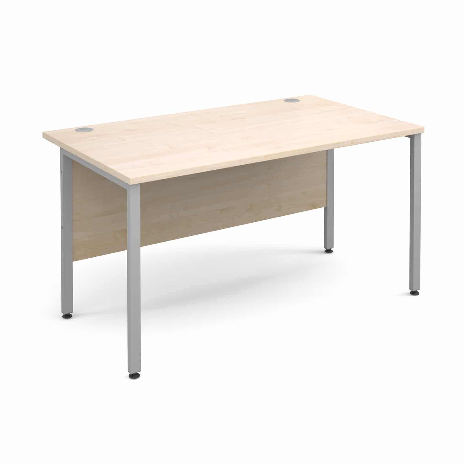 H frame 1400 x 800mm straight maple office desk bimi - Maple office desk ...