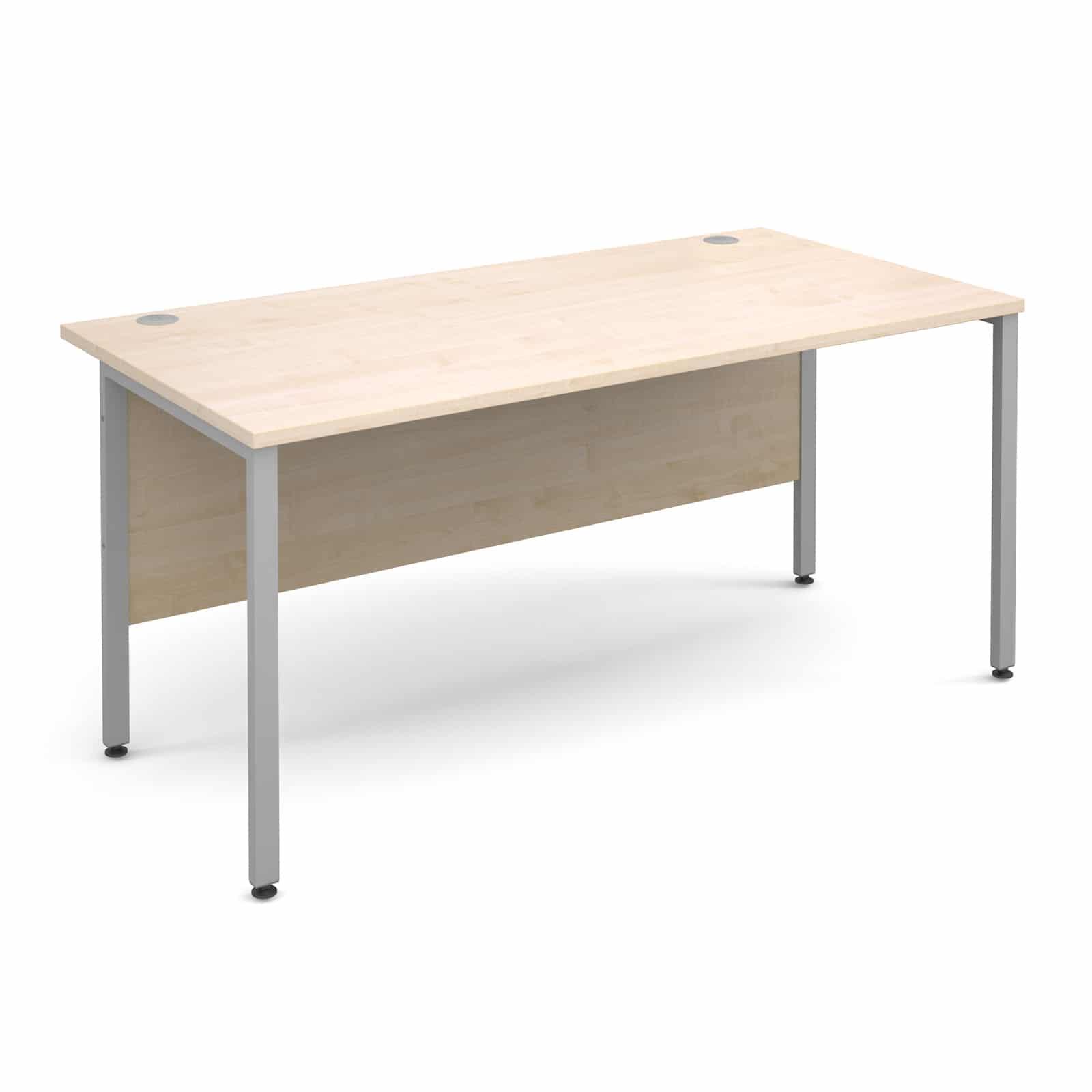 H frame 1600 x 800mm straight maple office desk bimi - Maple office desk ...