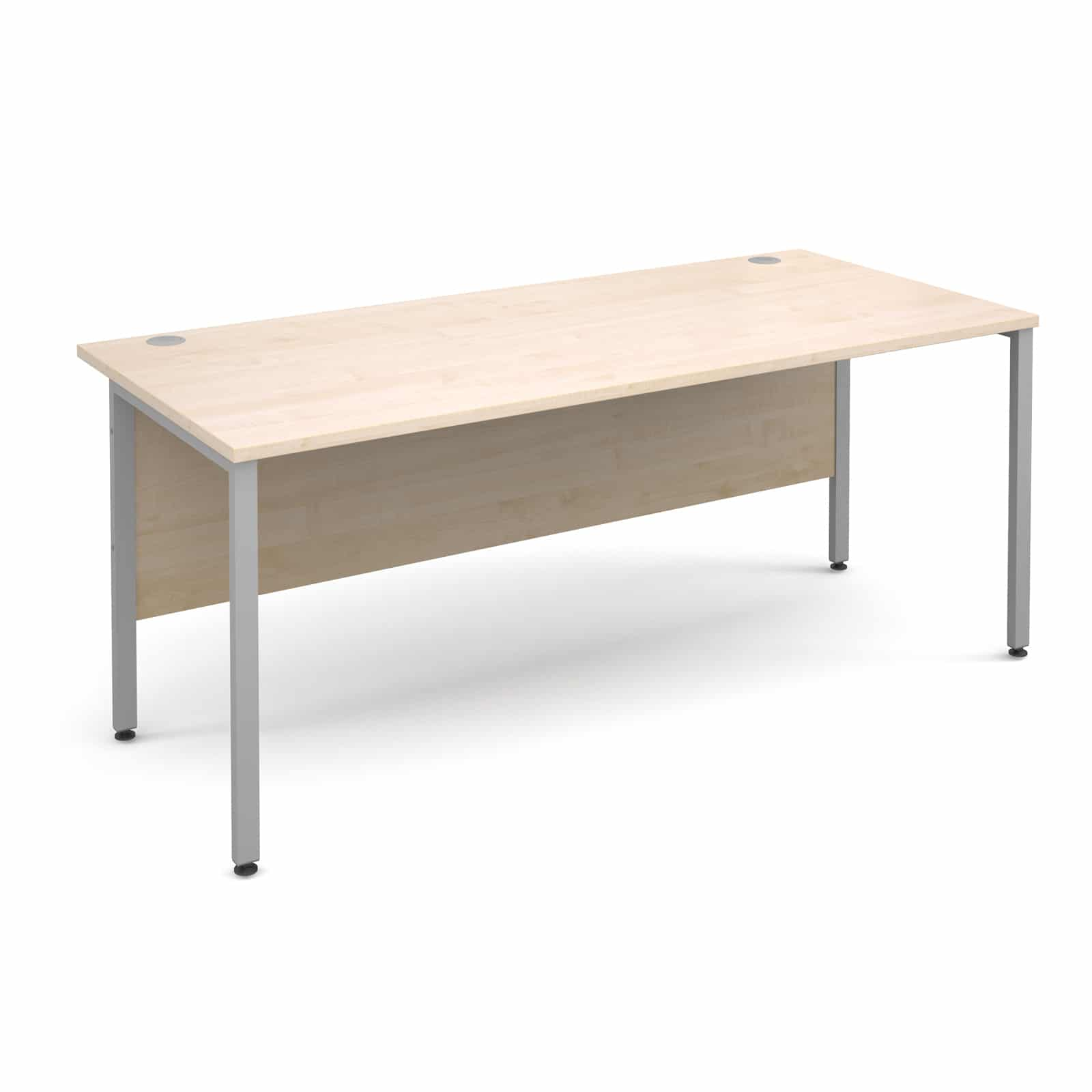 H Frame 1800 X 800mm Straight Maple Office Desk