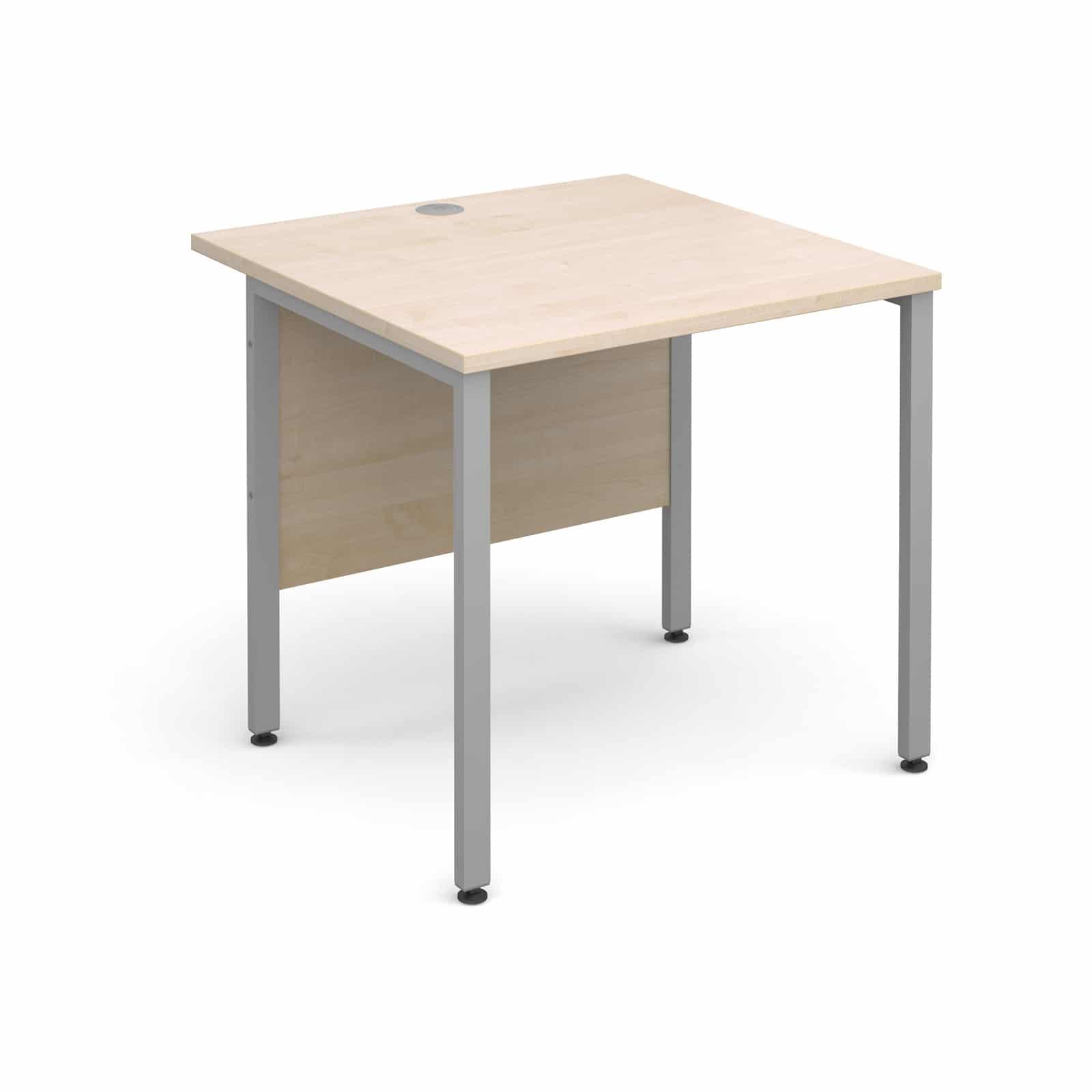 H Frame 800 X 800mm Straight Maple Office Desk