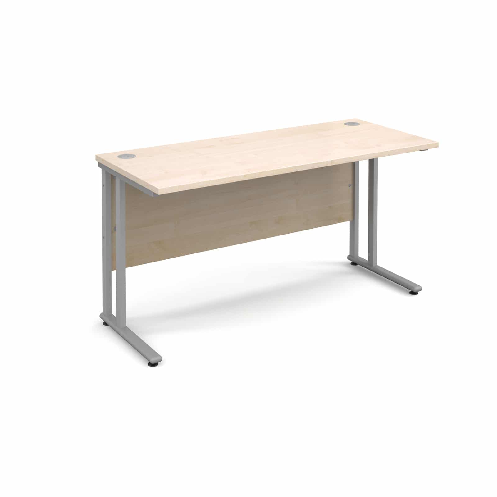 Bimi Slimline 1400mm X 600mm Rectangular Straight Desk In Maple