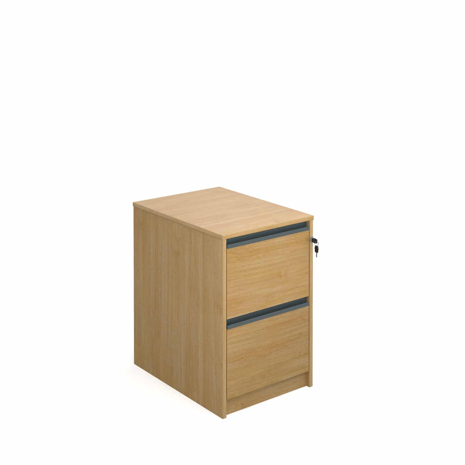 Universal Ready Built 2 Draw Wood Office Furniture Tough Filing Cabinet Oak