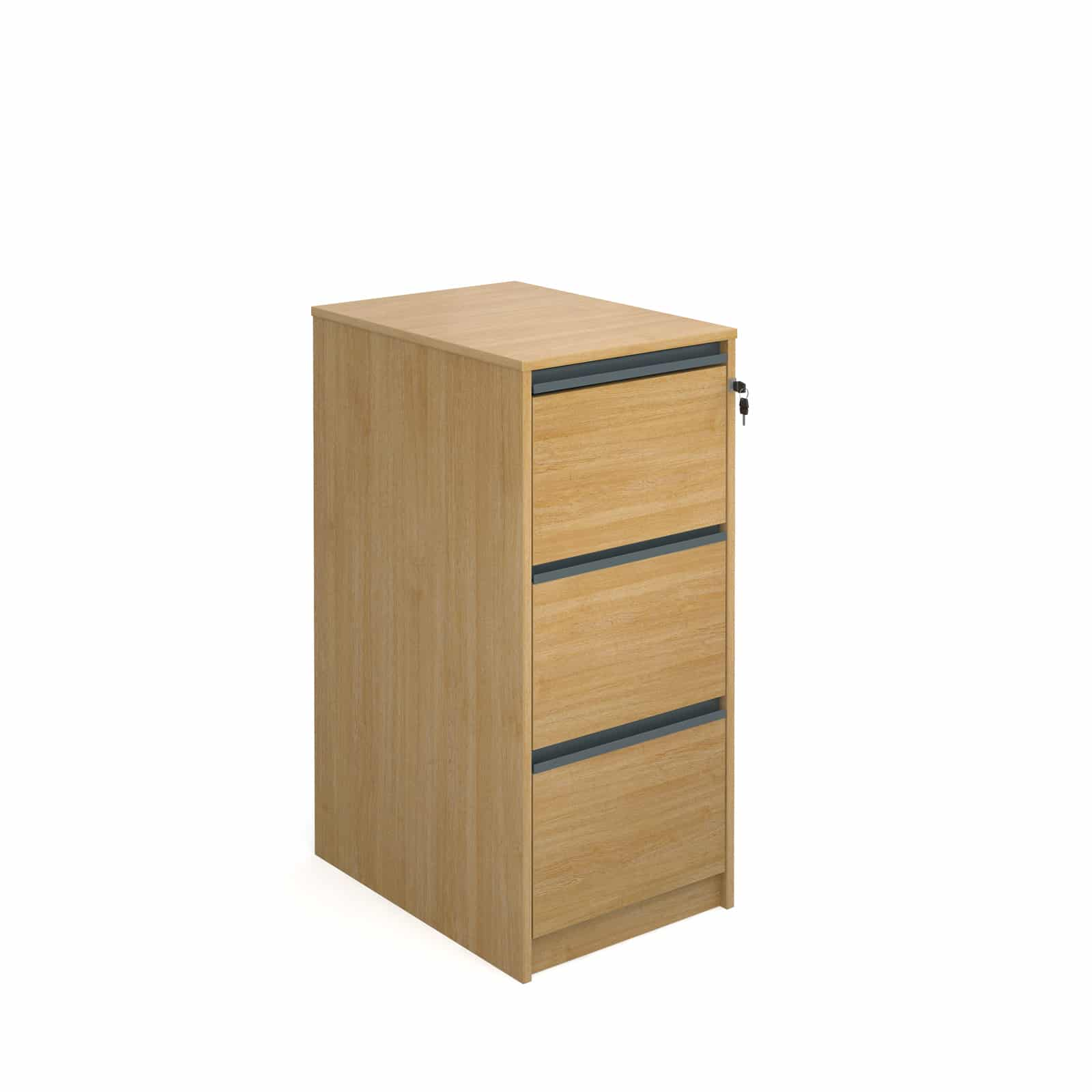 Universal Ready Built 3 Draw Wood Office Furniture Tough Filing Cabinet Oak