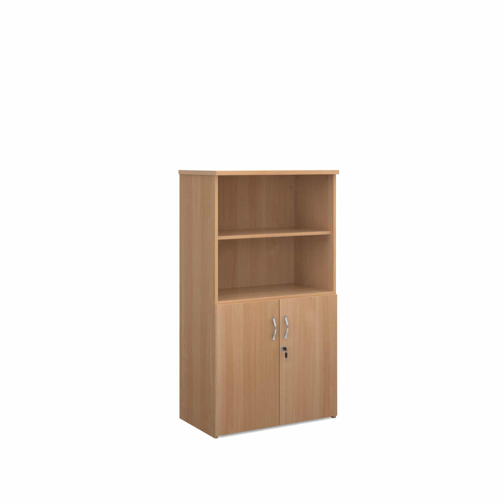 Beech Wood Office Tall Storage Combination Unit 1440mm