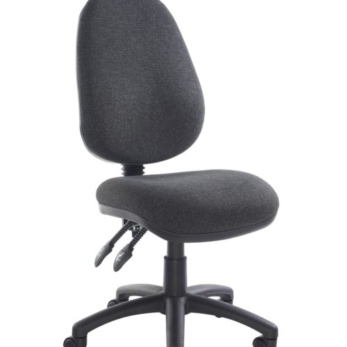 Fabric Operator seating - 2 Lever Operator Chair without Arms - Charcoal