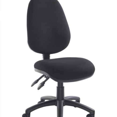 Fabric Operator seating - 2 Lever Operator Chair without Arms - Black