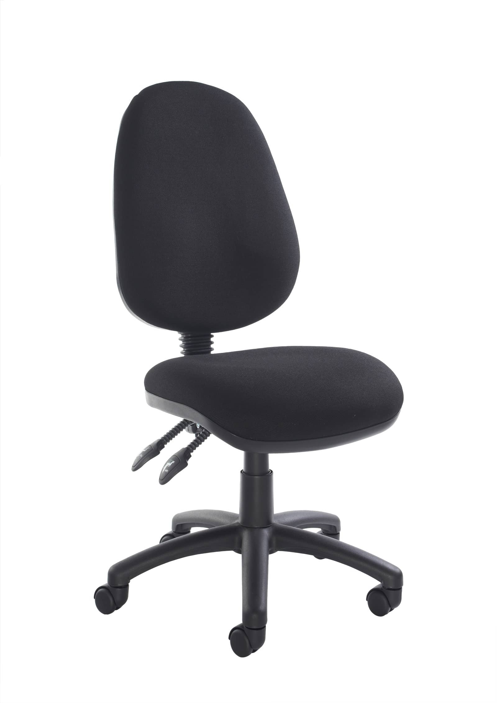 Fabric Operator Seating 2 Lever Chair Without Arms Black