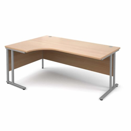 Left Hand Corner Desk Beech 1800mm