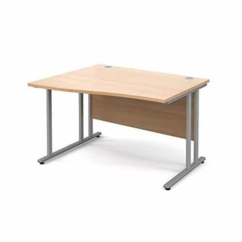 BiMi 1400mm x 800mm Left Hand Wave Desk in Beech