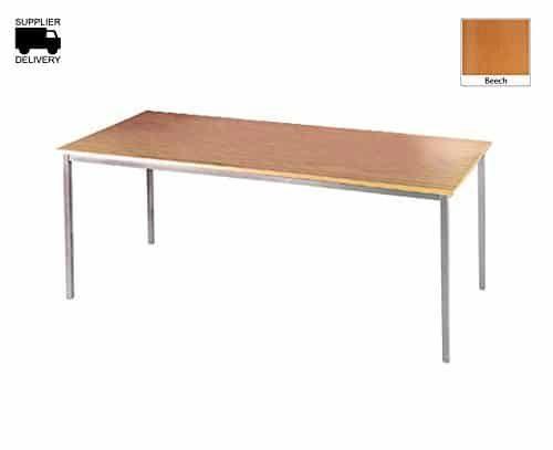 DAMS 1200 Silver Frame Flexi Table, Wood, Beech