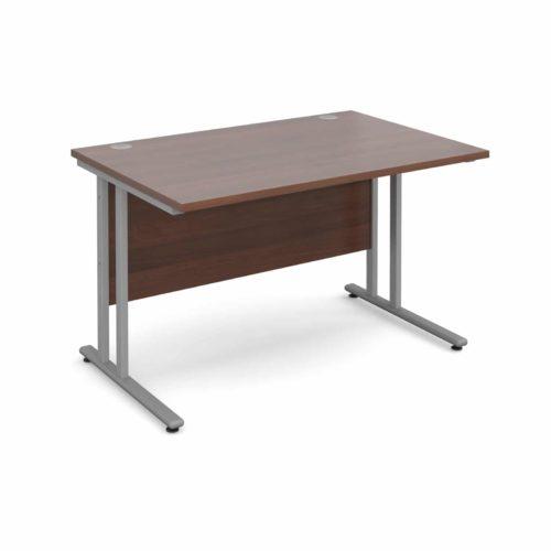 BiMi 1400 x 800 Rectangular Desk Complete With 3 Draw Pedestal Walnut
