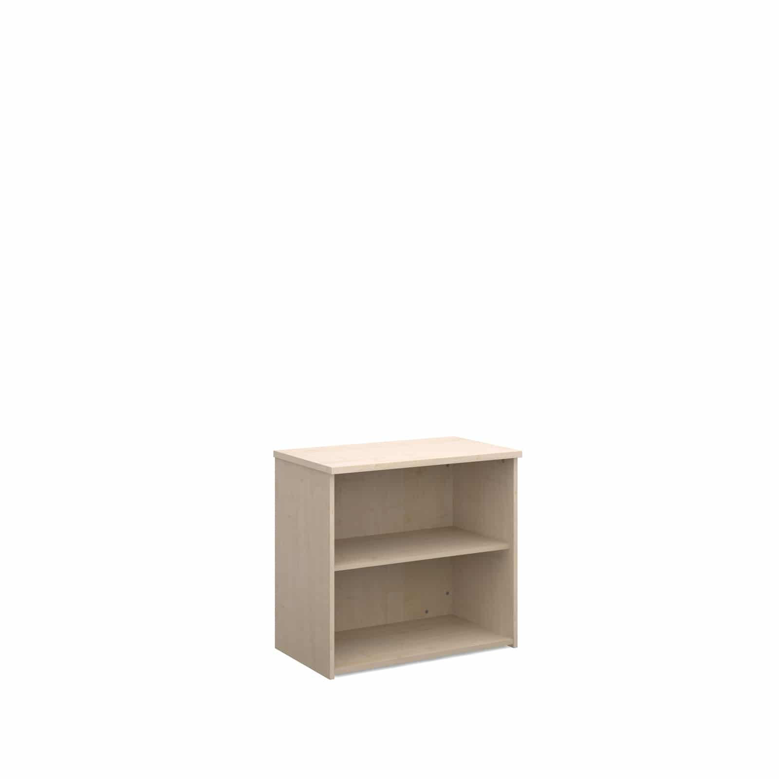 Maple Wood Office Shelving Unit 740mm 2 shelf
