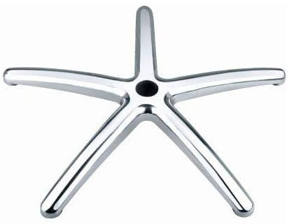 Wide Stylish Top Quality Heavy Duty Aluminium 5 Spoke Office Chair Base With Castors