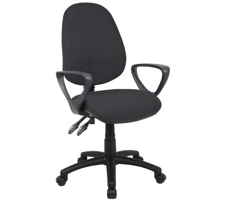 Merveilleux Fabric Operator Seating   2 Lever Operator Chair   Fixed Arms   Black