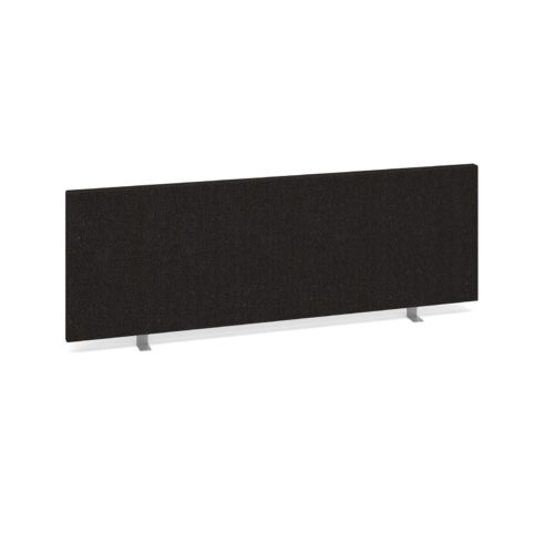 Straight Desk Top Privacy Screen 1200 x 400 Charcoal