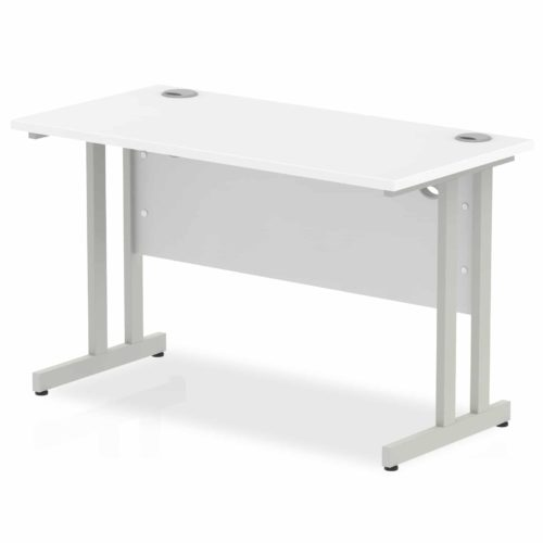 Straight Compact Office Desk White 1200 x 600