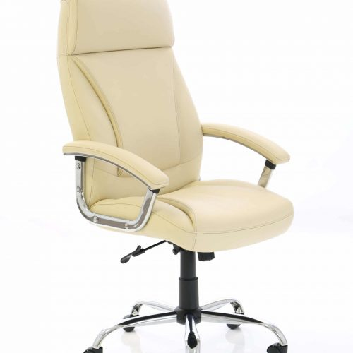 Penza Cream Leather Executive Chair