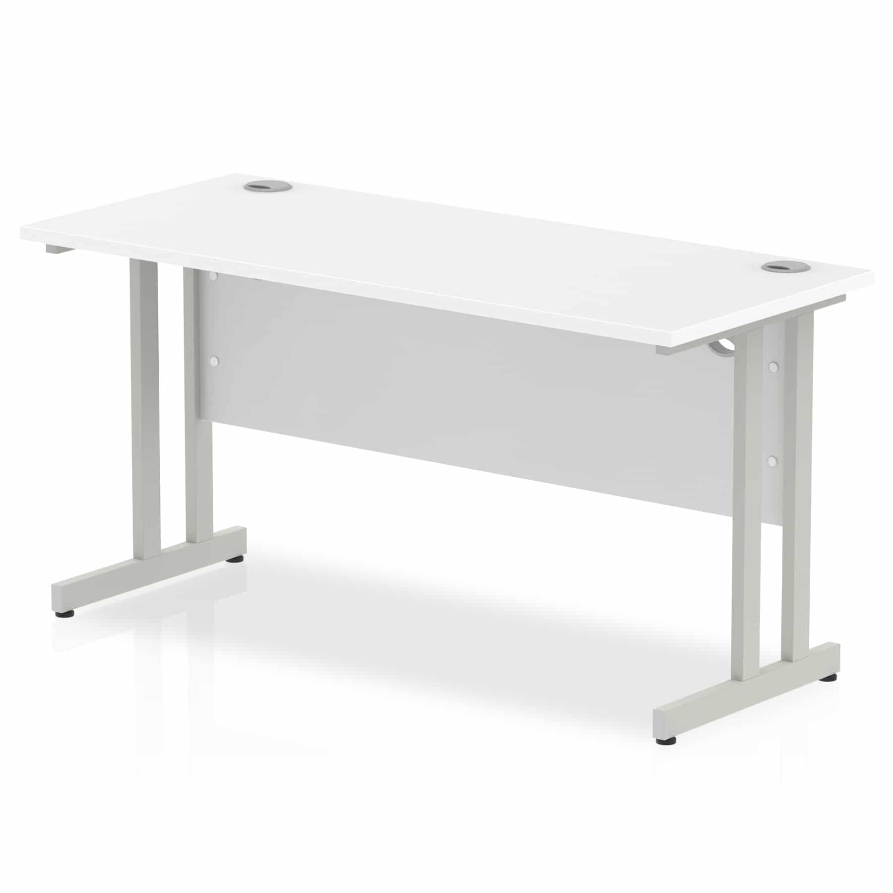low priced 3bdcd 7cdb1 Slimline 1400mm x 600mm Rectangular Straight Desk in White