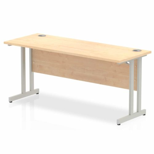 Slimline Office Desk 1600 x 600 Maple