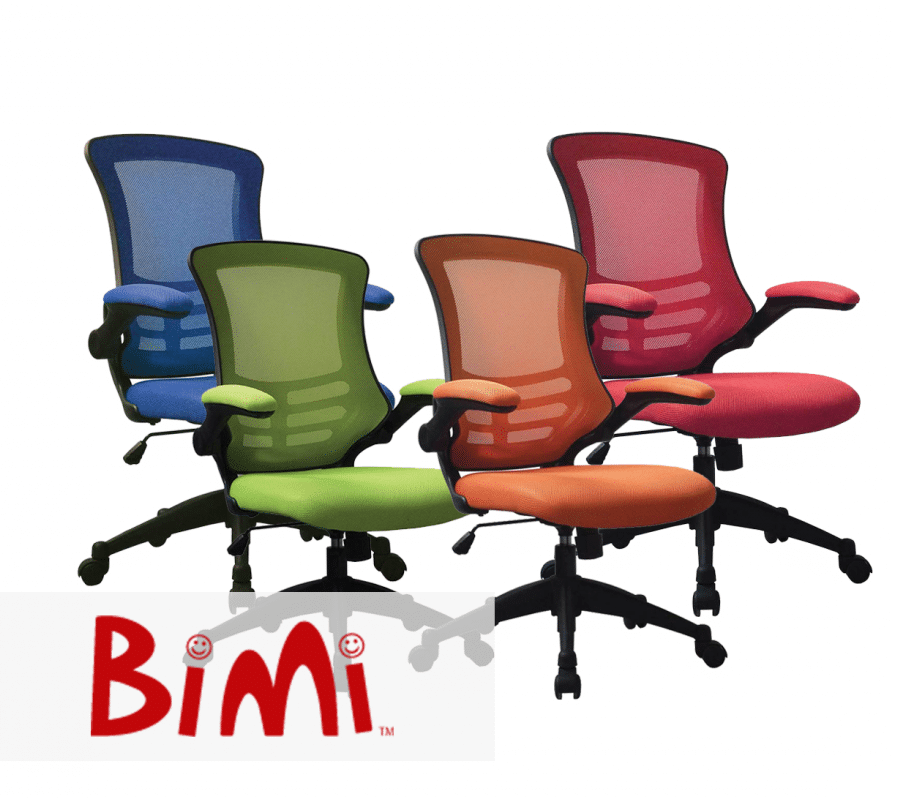 Luna Colour Office Chairs - Green Office Chair - Operator Chair, Orange Office Chair - Blue Office Chair, Red Office Chair