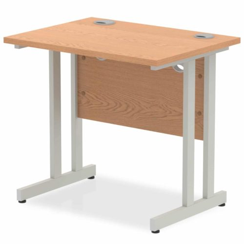 Slimline Office Straight Desk Oak 800mm x 600mm
