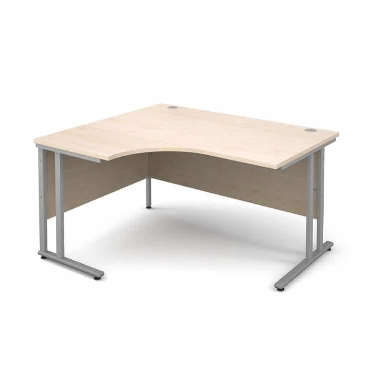 Maple 1400mm Left Hand Corner Desk
