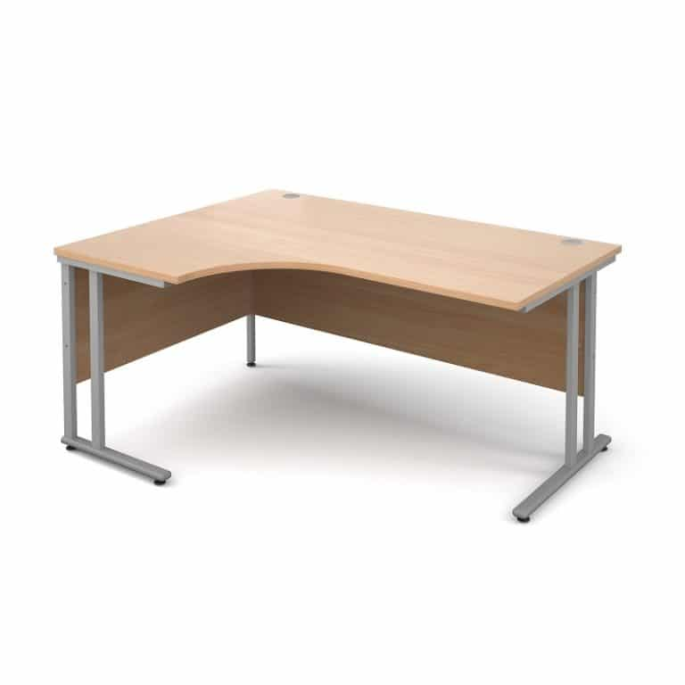 Beech Left Hand Corner Desk
