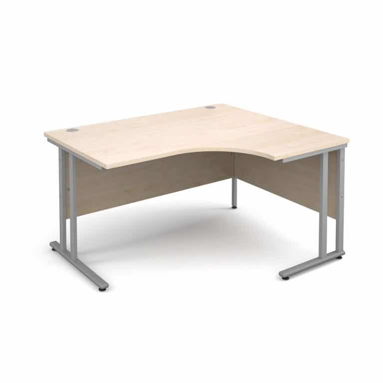 Maple 1400mm Right Hand Ergonomic Corner Desk-0