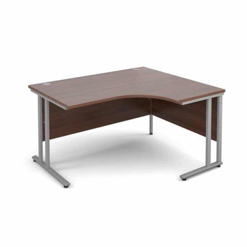 Walnut 1400mm Right Hand Ergonomic Corner Desk-0