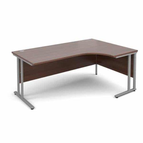 Walnut Ergonomic 1600mm Right Hand Corner Office Desk Computer Table-3902