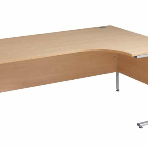 OAK Ergnomic 1800mm Right Hand Corner Desk