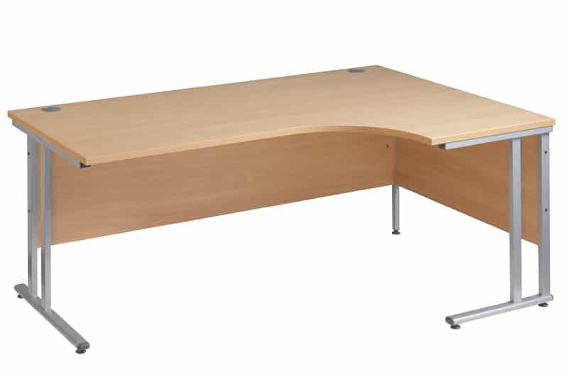 Oak Ergonomic 1800mm Right Hand Corner Office Desk