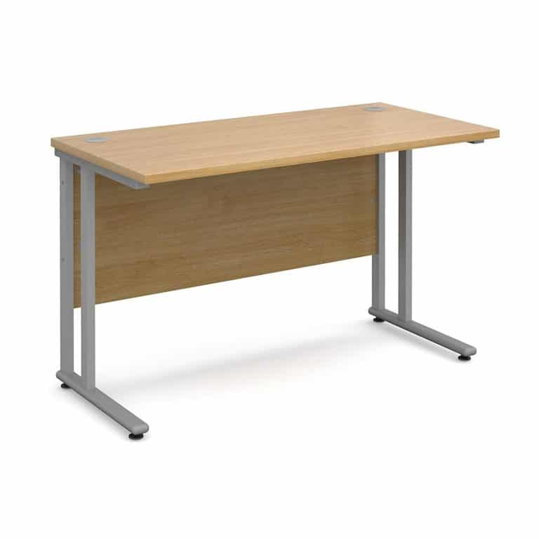 Rectangular Straight Desk Oak 1400mm Lite Range-0