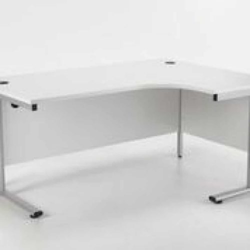 White 1800 mm Right Hand Ergonomic Corner Desk