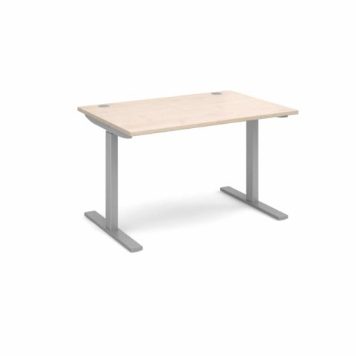 Elev8 1200 x 800 Sit Stand Desk - Silver frame - Maple-0