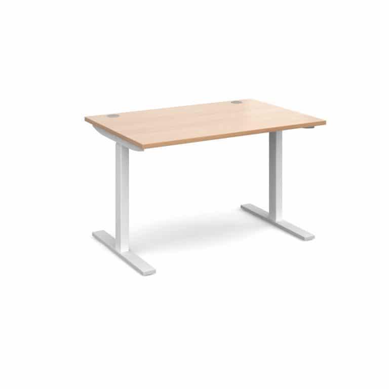 Elev8 1200 x 800 Sit Stand Desk - White frame - Beech-0