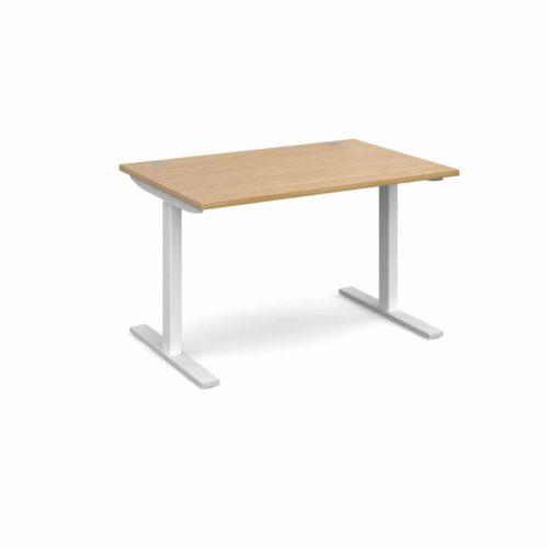 Elev8 1200 x 800 Sit Stand Desk - White frame - Oak-0