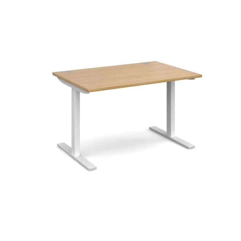 Elev8 1200 x 800 Sit Stand Desk - White frame - Oak-0