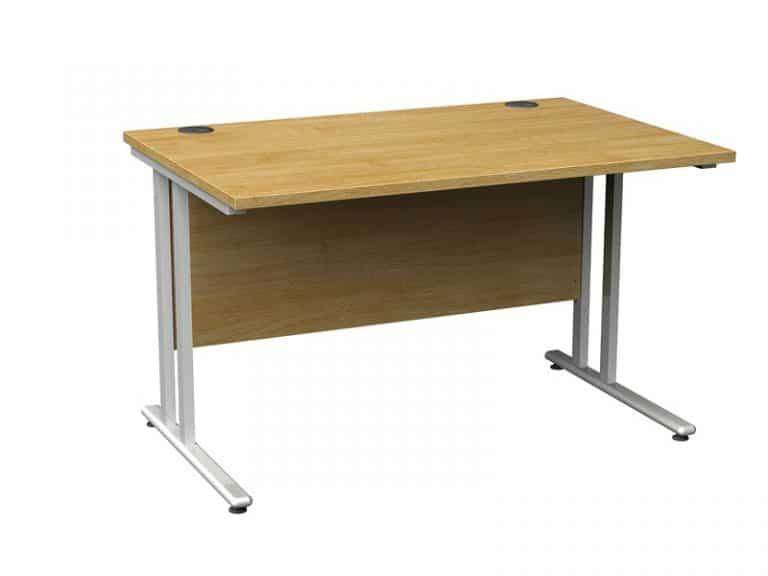 Rectangular Straight Desk Oak - 800mm x 800mm-4129