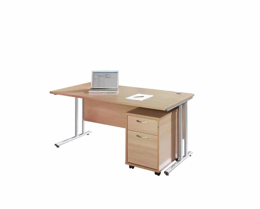 Maple Workstation with Pedestal