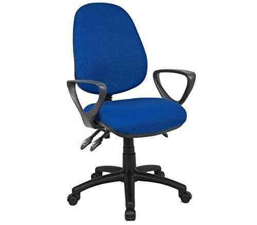 DAMS 3-Lever Vantage Chair, Leather, Royal Blue