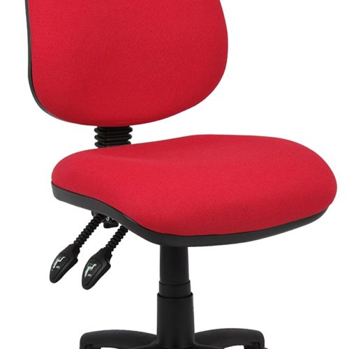 Fabric Operator seating - 2 Lever Operator Chair without Arms - Red
