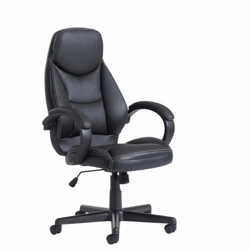 Sanford high back managers chair - black faux leather