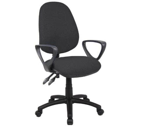 Vantage Chair 2 Lever With Fixed Arms By Ready Office - Height: 895-1005 MM; Width: 480 MM; Depth: 605 MM - Color: Charcoal