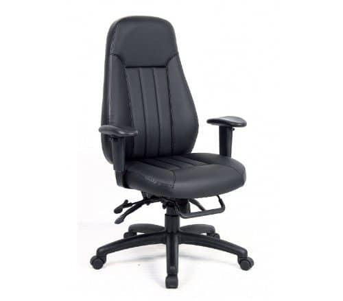 Zeus Black Faux Leather Executive Chair